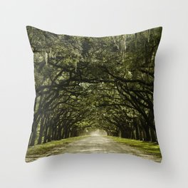 Spanish Moss Canopy Throw Pillow