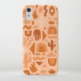 Orange Cutout Print iPhone Case