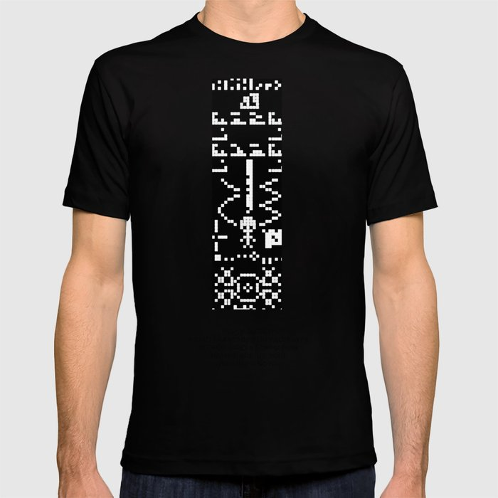 b570e3015 Reply to 1974 SETI Arecibo Message in Crop Circle Formation UK 2001 Alien  UFO Message T-shirt