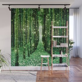 Magical Forest Green Elegance Wall Mural