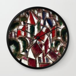 Fernand Leger Village in the Forest Wall Clock