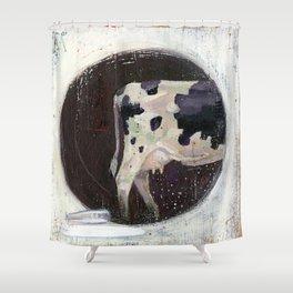 holstein-friesian cow Shower Curtain