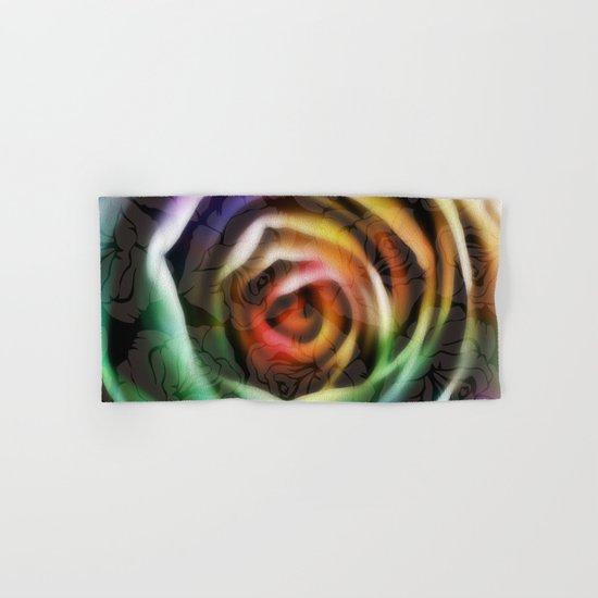Rainbow Rose Hand & Bath Towel