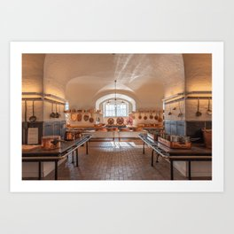 Antique kitchen for professional use Art Print