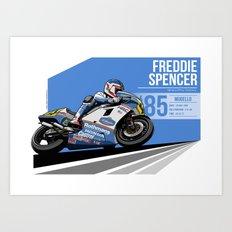 Freddie Spencer - 1985 Mugello Art Print