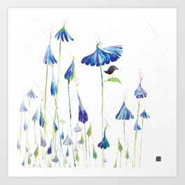 BLUE IS THE RAINIEST COLOR Art Print