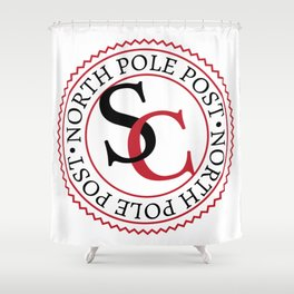 North Pole Post S.C. Shower Curtain