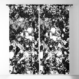 Bad Memories - black and white abstract painting Blackout Curtain