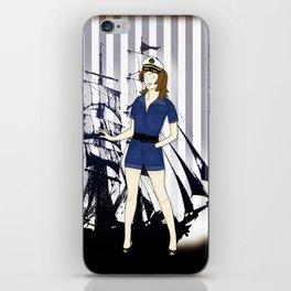 Navy Girl iPhone Skin