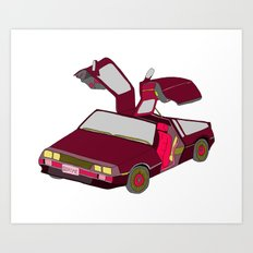 cool girls like flying cars Art Print