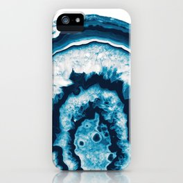 Blue White Agate #1 #gem #decor #art #society6 iPhone Case