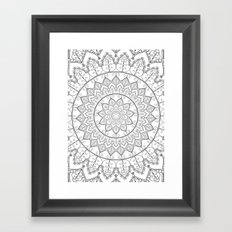 Lace Mandala Framed Art Print