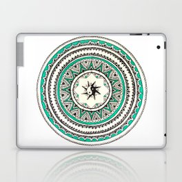Turquoise Circle Madala with Yin Yang Laptop & iPad Skin
