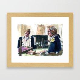 Ben and Alex Framed Art Print