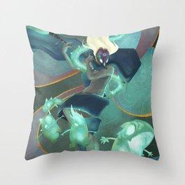 The Dreamteller of Sleepwalkers Throw Pillow