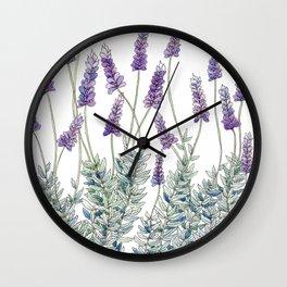 Lavender, Illustration Wall Clock