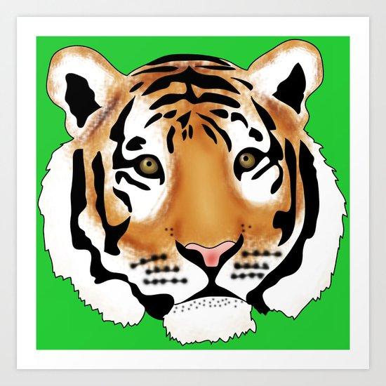 Pop Art Tiger Art Print