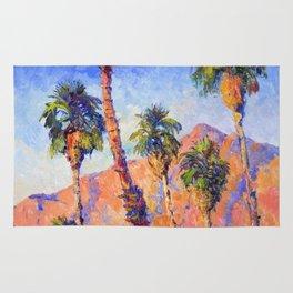 Palm Trees, Palm Springs, Desert Palms Southwestern Landscape Rug