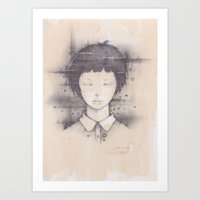 cosmos Art Prints featuring cosmos by Shiro