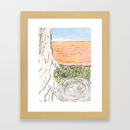 The red Sea Framed Art Print