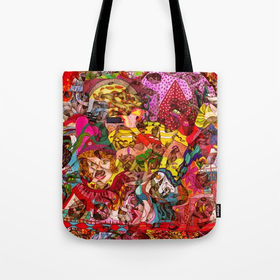 Mini slices brought together push away the stormy weather Tote Bag