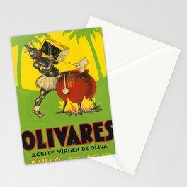 olivares   aceite virgen de oliva. gouache maquette  oude poster Stationery Cards