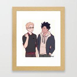 nudge nudge  Framed Art Print