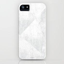 White and Gray Lino Print Texture Geometric iPhone Case