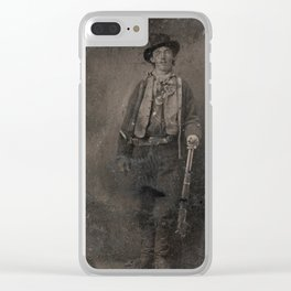 Vintage Billy the Kid Old West Outlaw Clear iPhone Case