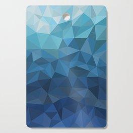 blue geometric Cutting Board