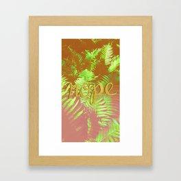 No just nope Framed Art Print