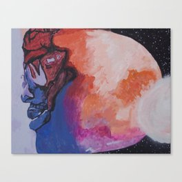 Man On The Moon (Revisited) : The Second Landing Canvas Print