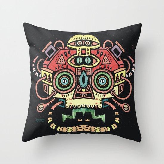 Lanceur de rêves - Alien tribe Throw Pillow