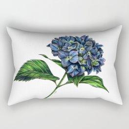 Realistic Hydrangea Drawing Rectangular Pillow