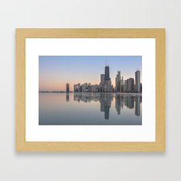Frozen Sunsets Pt 1 Framed Art Print