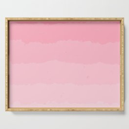 Light Pink Cloud Layers Serving Tray