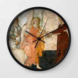 """Sandro Botticelli """"Venus and the Three Graces Presenting Gifts to a Young Woman"""" Wall Clock"""