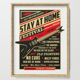 Distancing Quarantine Social Stay Home Festival 2020 Serving Tray
