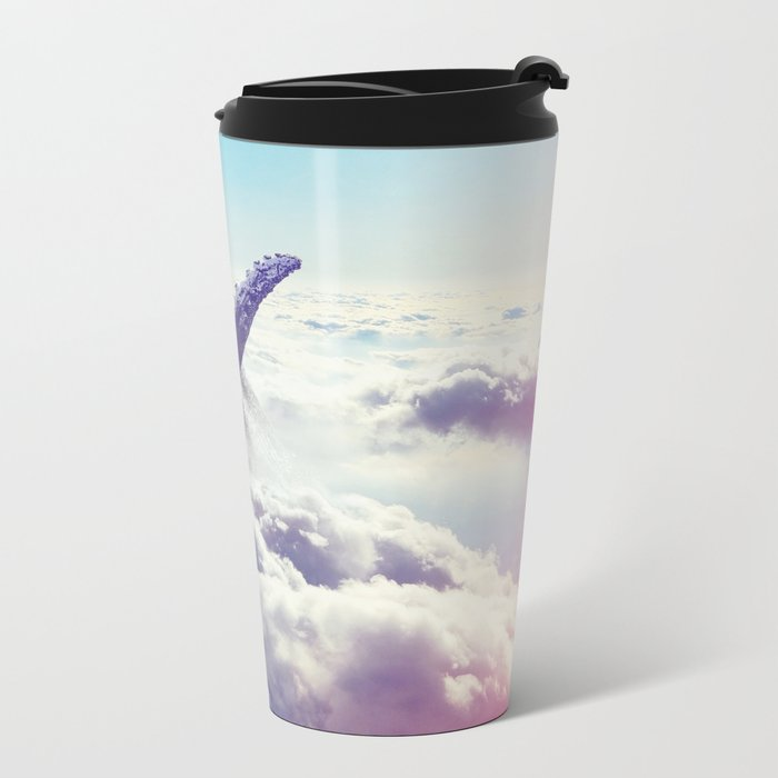 Cloudy whale Metal Travel Mug