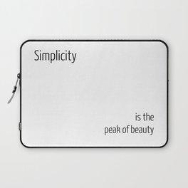 Simplicity is the peak of beauty Laptop Sleeve