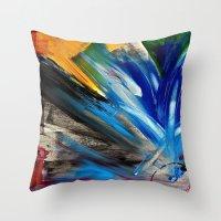 focus Throw Pillows featuring Focus by RvHART
