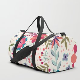Colorful Floral Spring Pattern Duffle Bag