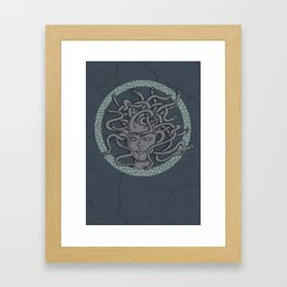 Snakes in her hair Framed Art Print
