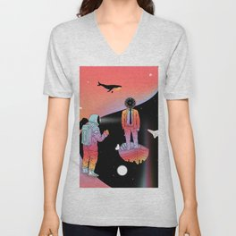 Coexistentiality 2 (A Passing View) Unisex V-Neck