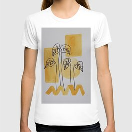 Leaves On Yellow T-shirt