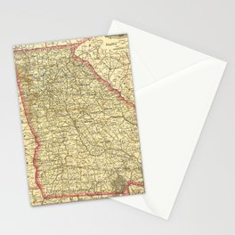 Vintage Map of Georgia (1883) Stationery Cards