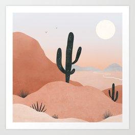 saguaro sunset Art Print