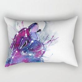 Galaxy Wolf Rectangular Pillow