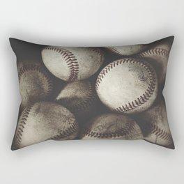 Grungy Baseballs on a Shelf Rectangular Pillow