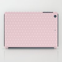 bisexual iPad Cases featuring Polka dot dance on pink by Better HOME